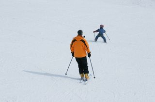 Father Son Skiing