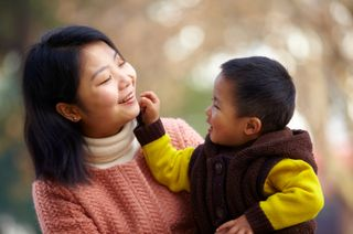 Chinese Mother and Little Boy iStock_000022416426XSmall